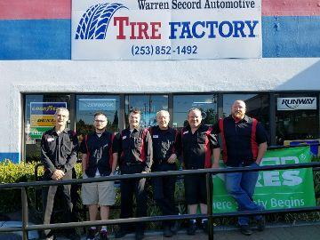 Warren Secord Automotive Kent, WA staff group photo
